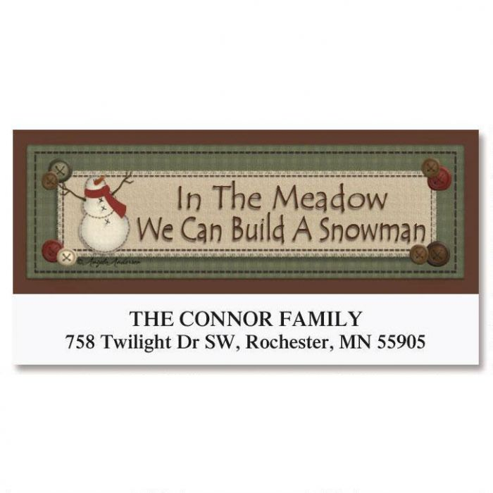 In The Meadow Deluxe Return Address Labels