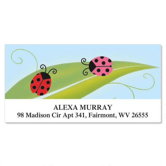 Ladybug Party Deluxe Return Address Labels