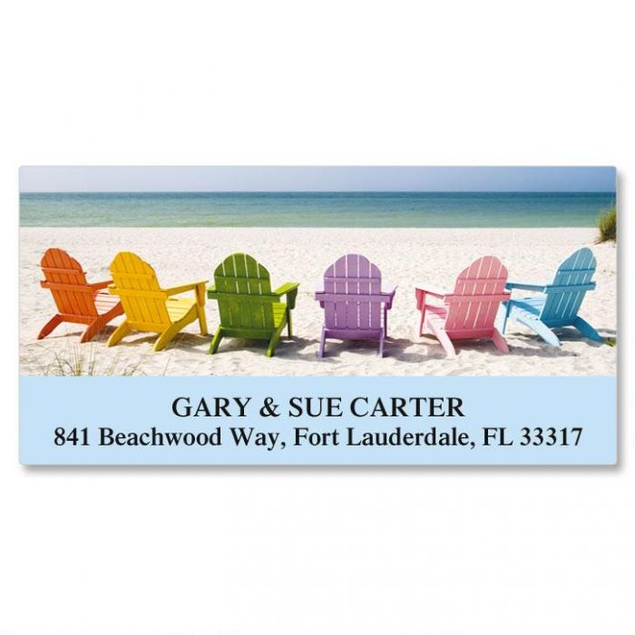 Tropical View Deluxe Return Address Labels