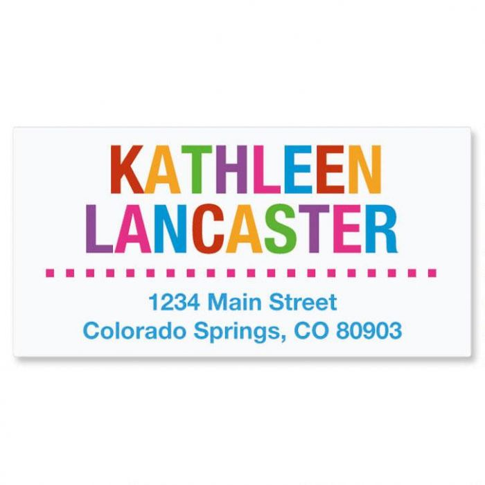 Whimsical Name Deluxe Return Address Labels