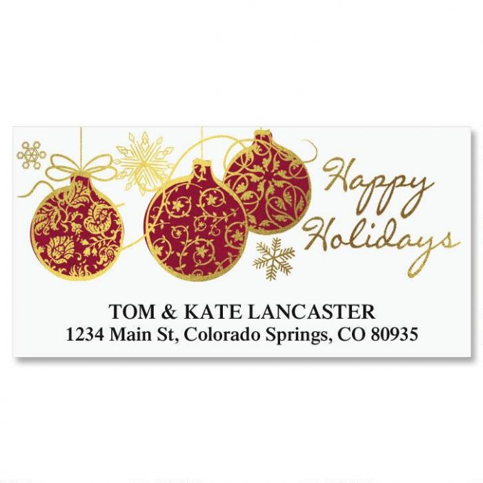 Ornamental Wishes Deluxe Return Address Labels