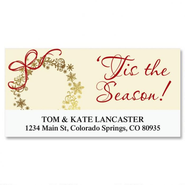 Tis the Season Deluxe Return Address Labels