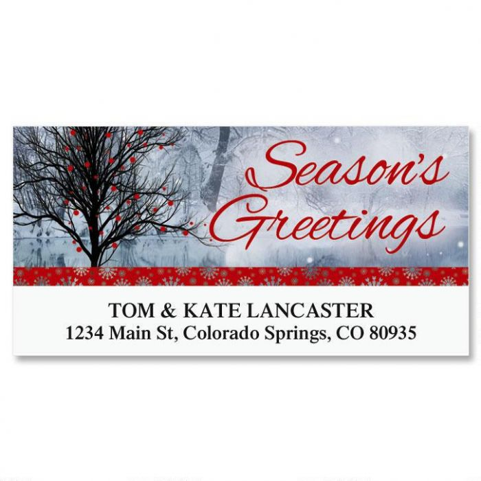 Bright Holiday Deluxe Return Address Labels