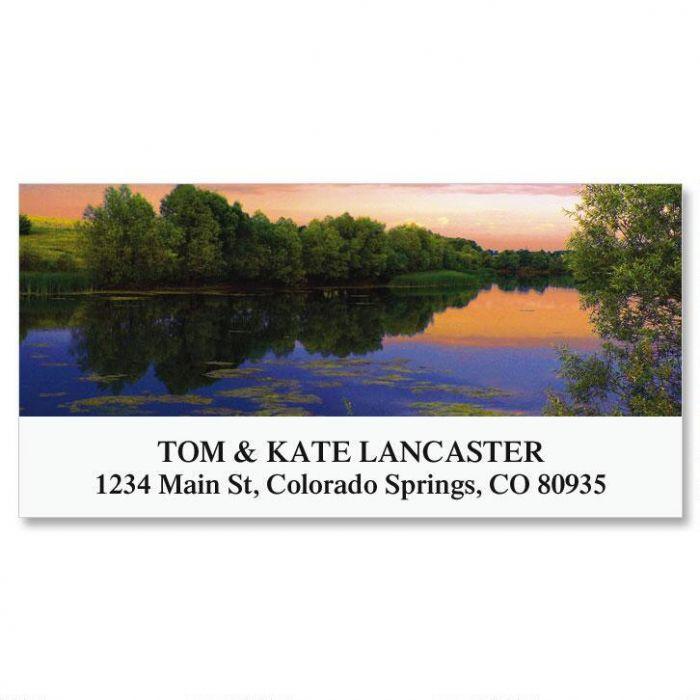 Sunset On Lake Deluxe Return Address Labels