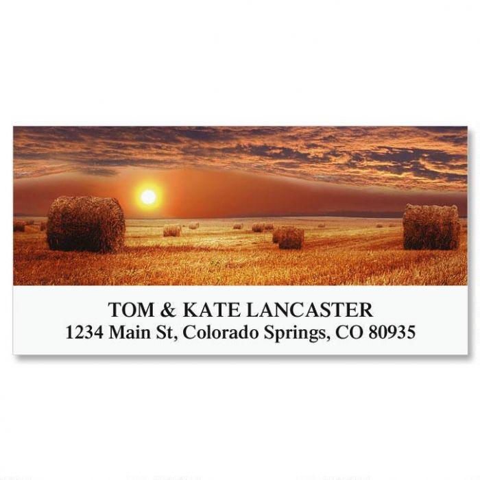 Rural Sunset Deluxe Return Address Labels