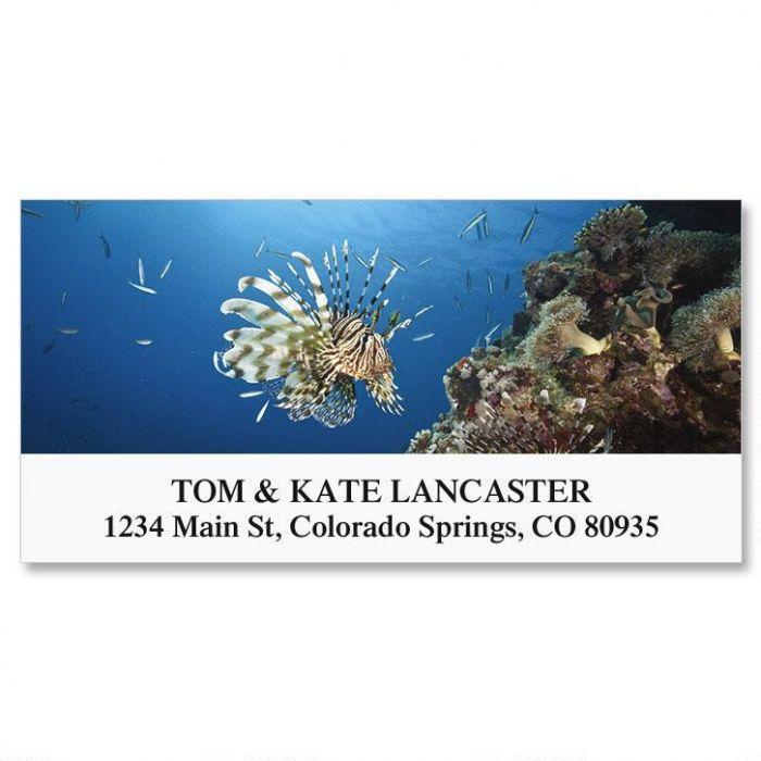 Lionfish Deluxe Return Address Labels