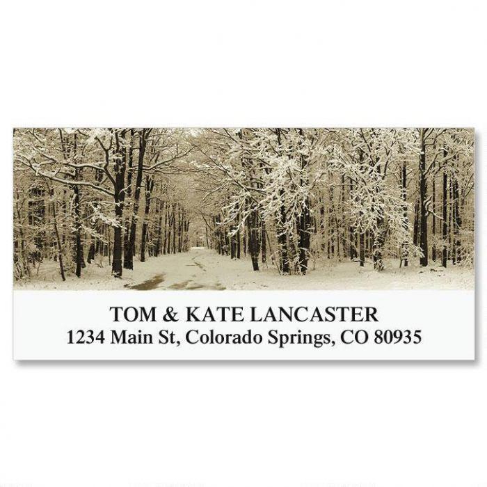 Winter Forest Deluxe Return Address Labels