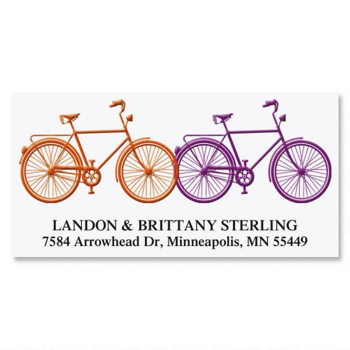 Just Married Deluxe Return Address Labels