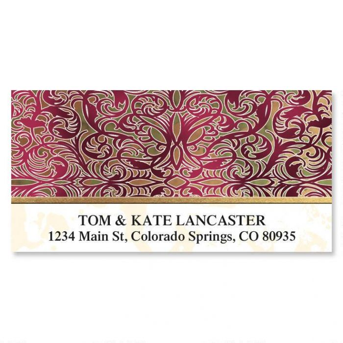 Marquetry Deluxe Return Address Labels