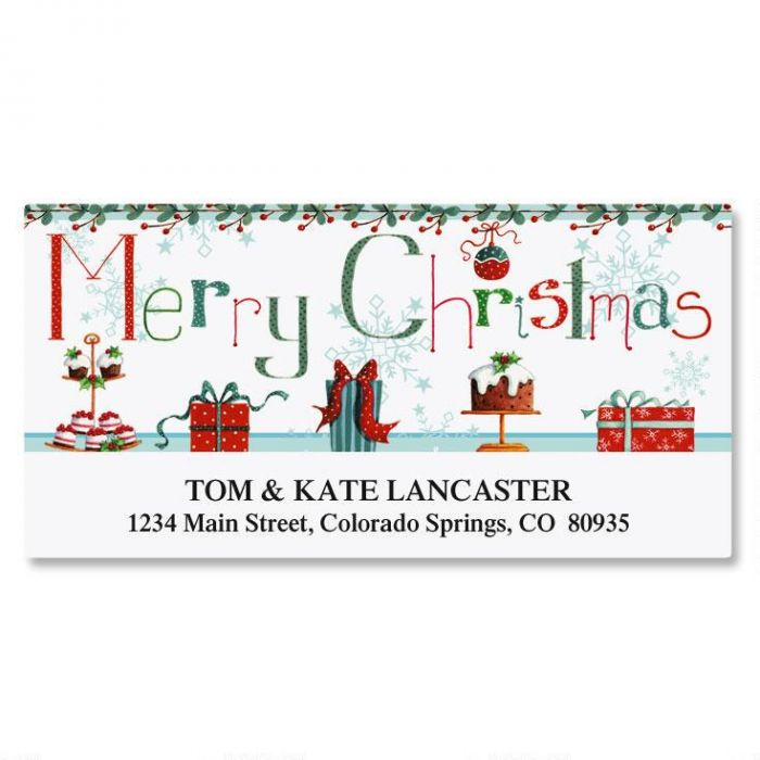 Christmas Treats Deluxe Return Address Labels
