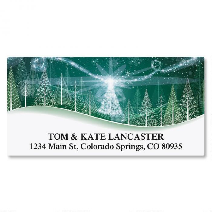 Winter Solstice Deluxe Christmas Address Labels