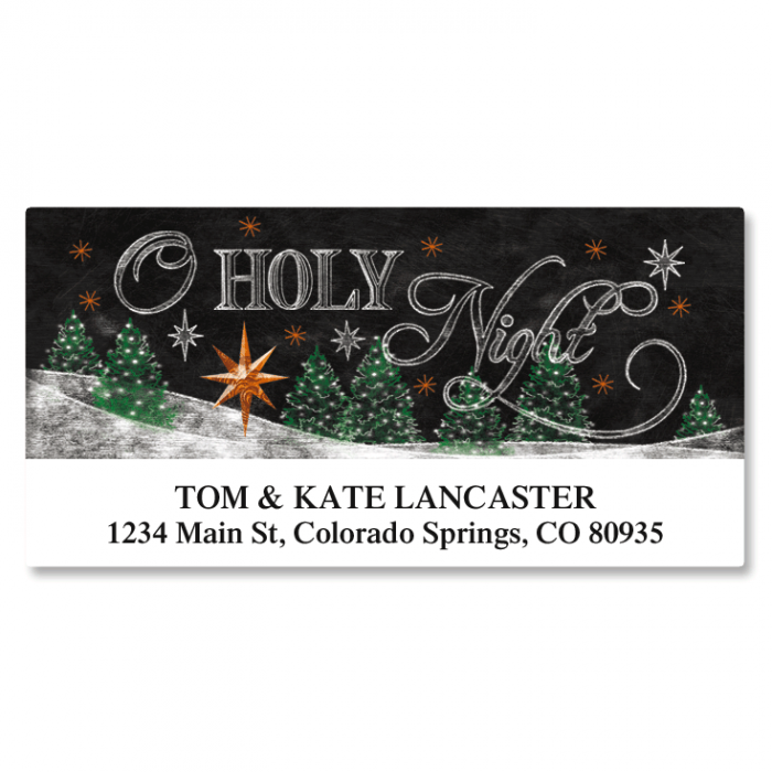 Holy Night Deluxe Christmas Address Labels