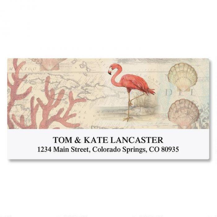 Flamingo Deluxe Return Address Labels