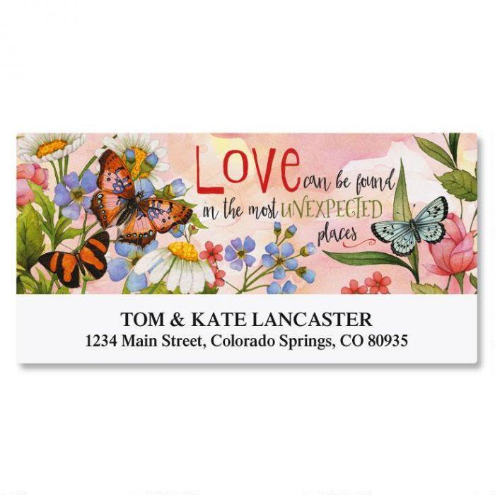Butterfly Love Deluxe Return Address Labels