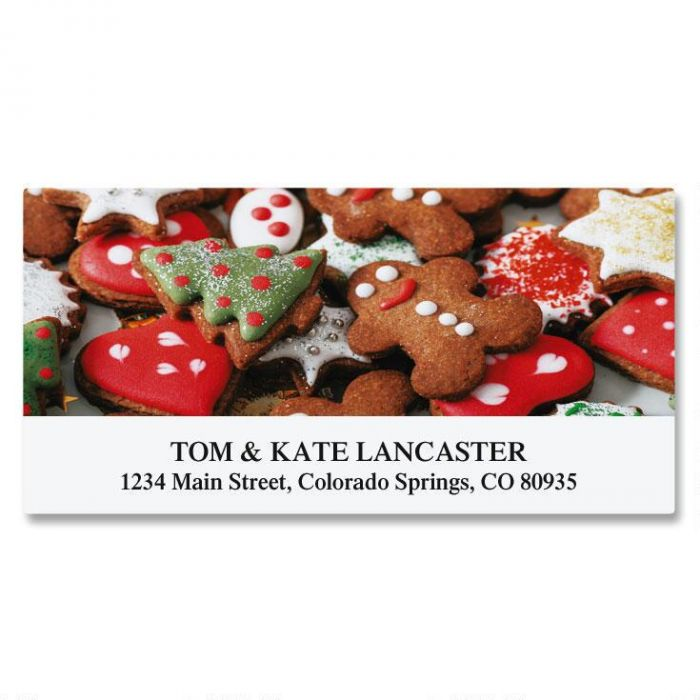 Gingerbread Deluxe Return Address Labels