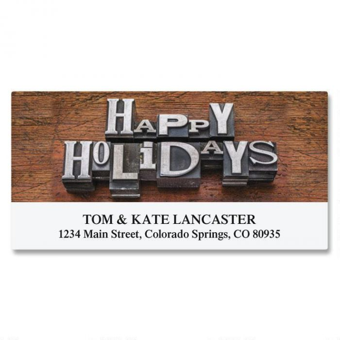 Holiday Type Deluxe Return Address Labels