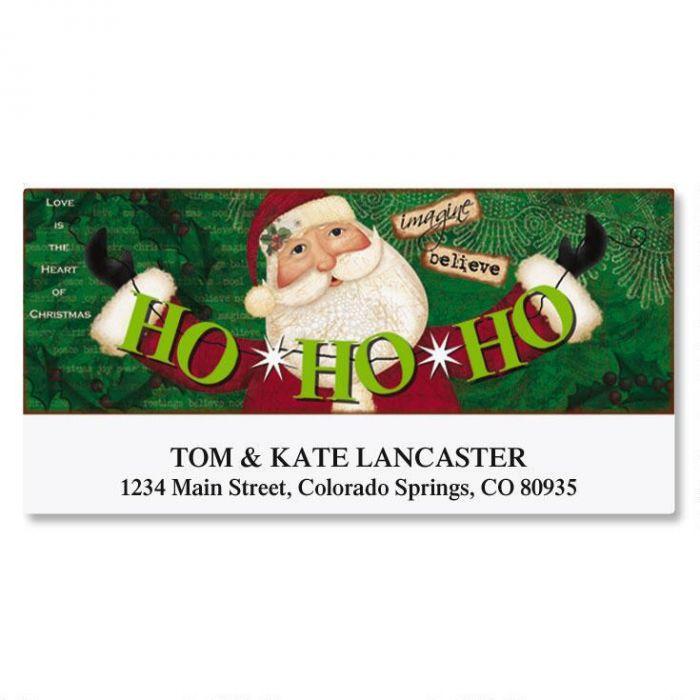 Santa Banner Deluxe Return Address Labels