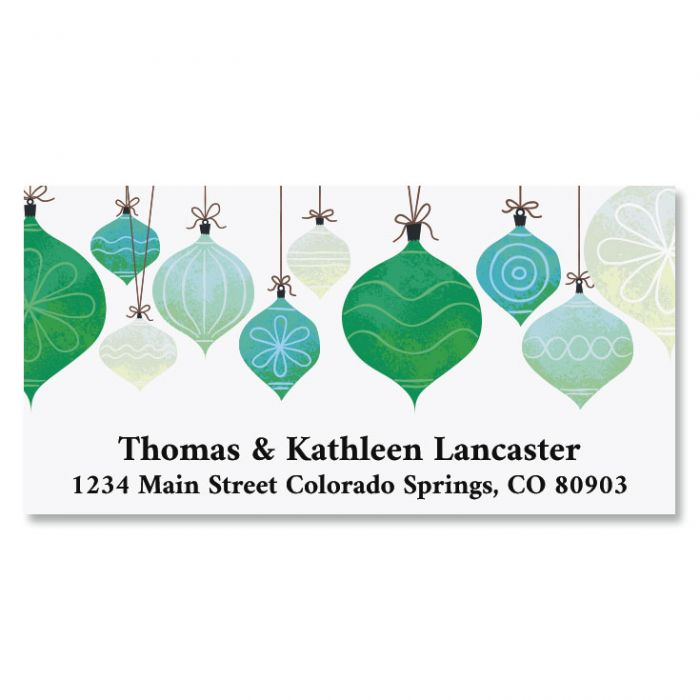 Simple Ornaments Deluxe Return Address Labels