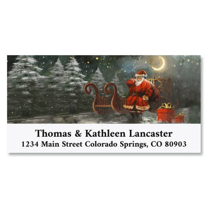Christmas Eve Deluxe Return Address Labels