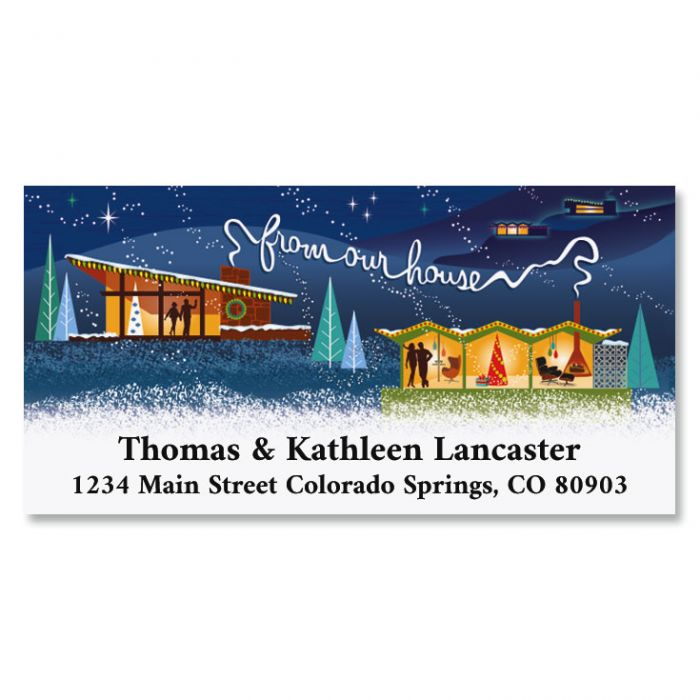 Holidays At Home Deluxe Address Labels