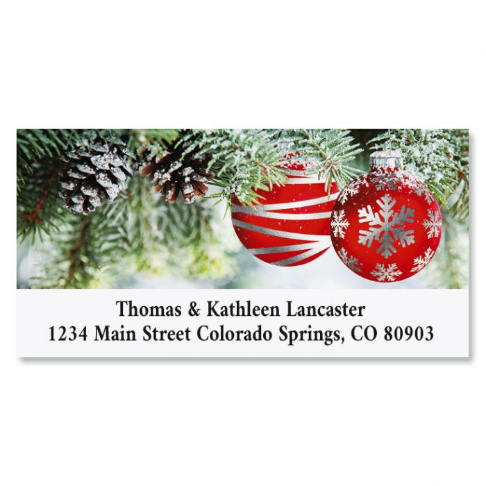 Ornament Wish Deluxe Foil Christmas Address Labels