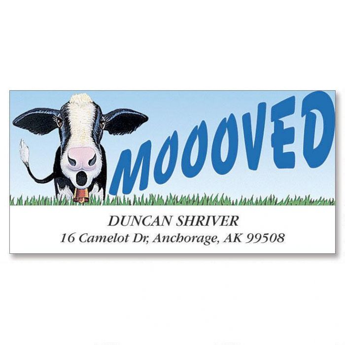 Moooved Deluxe Return Address Labels