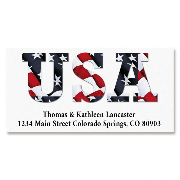USA Deluxe Return Address Labels