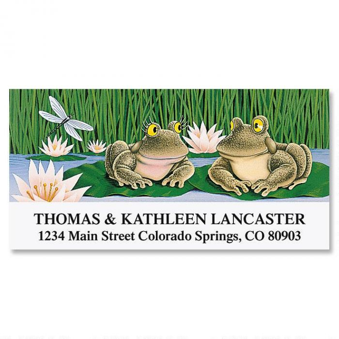 Lily Pad Love Deluxe Return Address Labels