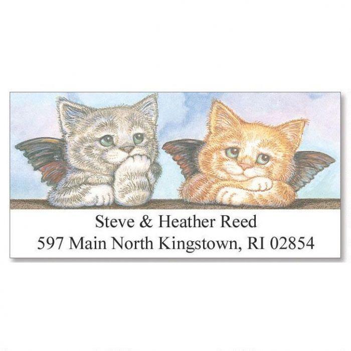 Kitten Angels Deluxe Return Address Labels