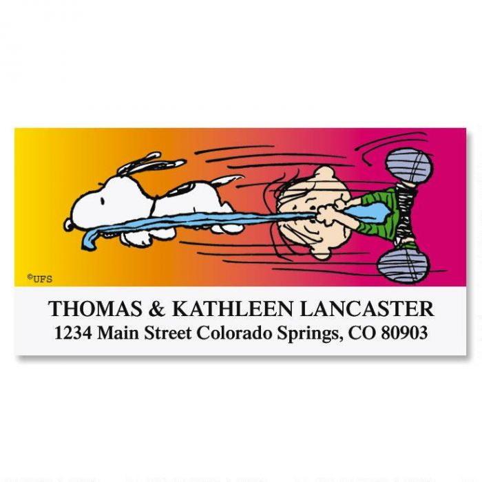 SNOOPY'S®  Sneak Attack Deluxe Return Address Labels