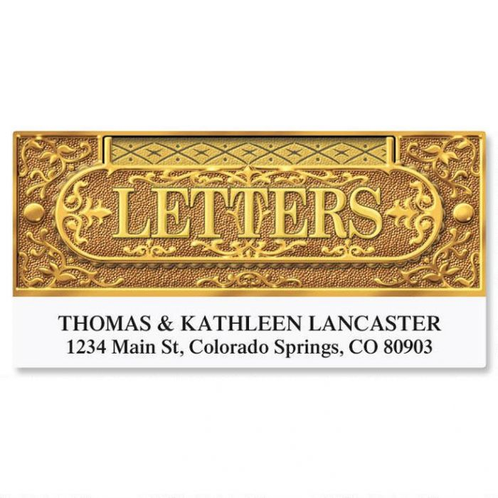 Letter Slot Deluxe Return Address Labels