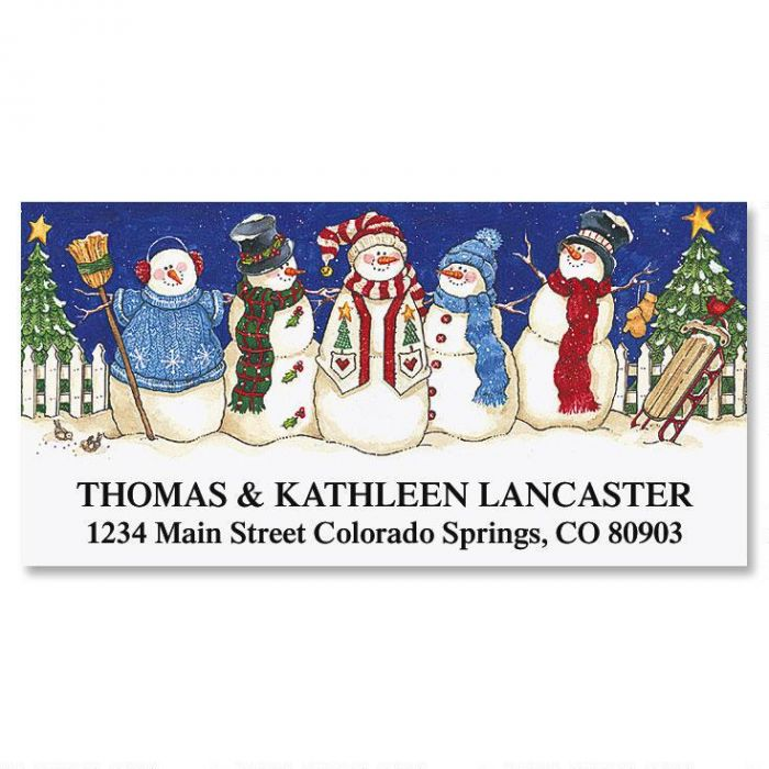 Sandi's Snowbuddies Deluxe Return Address Labels