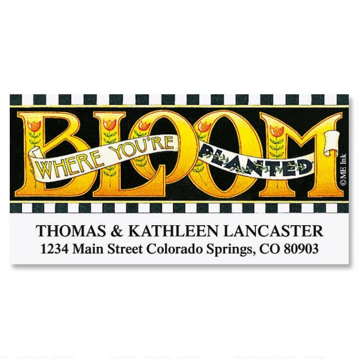 Bloom by Mary Deluxe Return Address Labels
