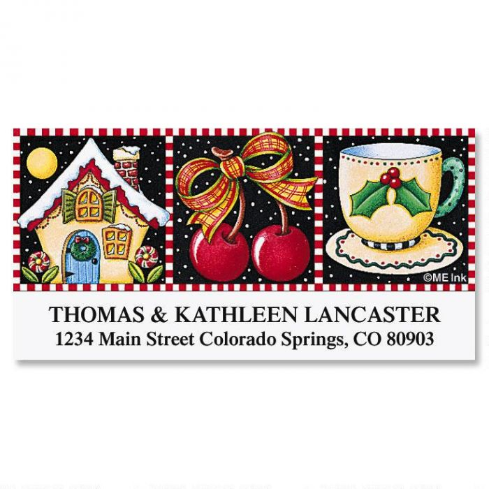 Christmas Home  Deluxe Return Address Labels