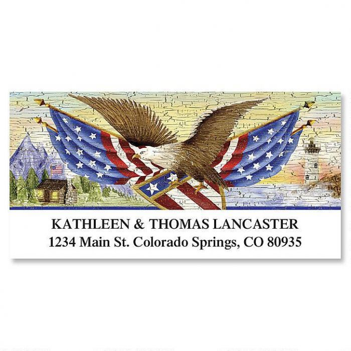 American Eagle  Deluxe Return Address Labels