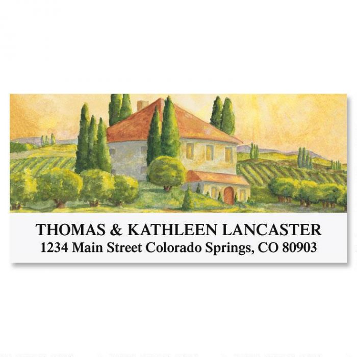Tuscan Villa Deluxe Return Address Labels