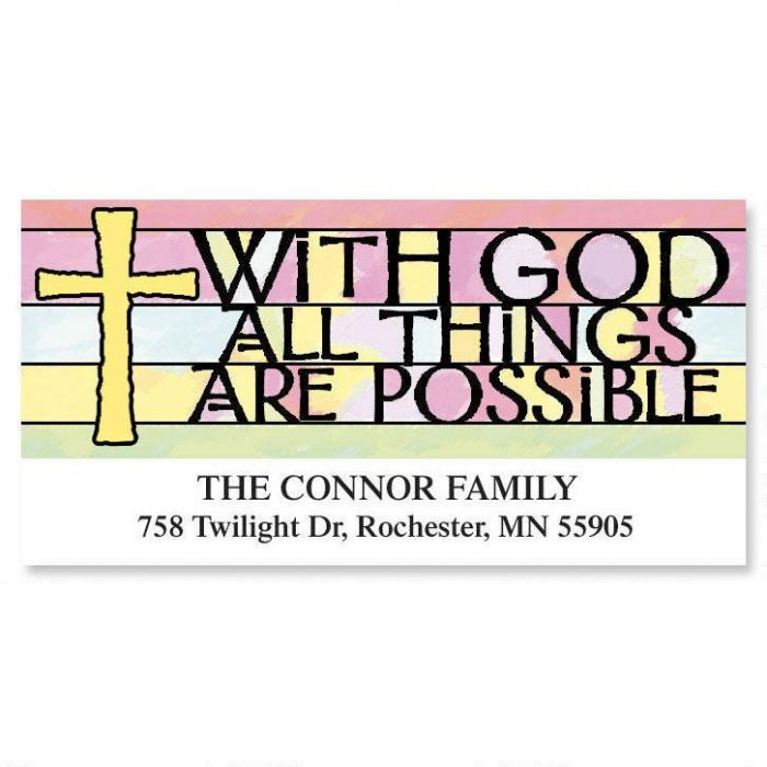 Colors of Faith Deluxe Return Address Labels