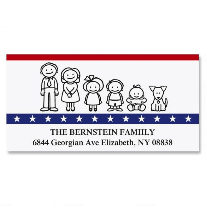 Our Patriotic Family Deluxe Return Address Labels