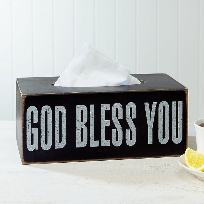 God Bless Tissue Box