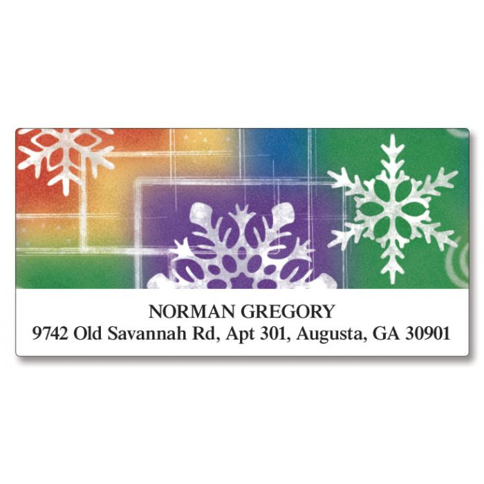 Snowflake Deluxe Return Address Labels