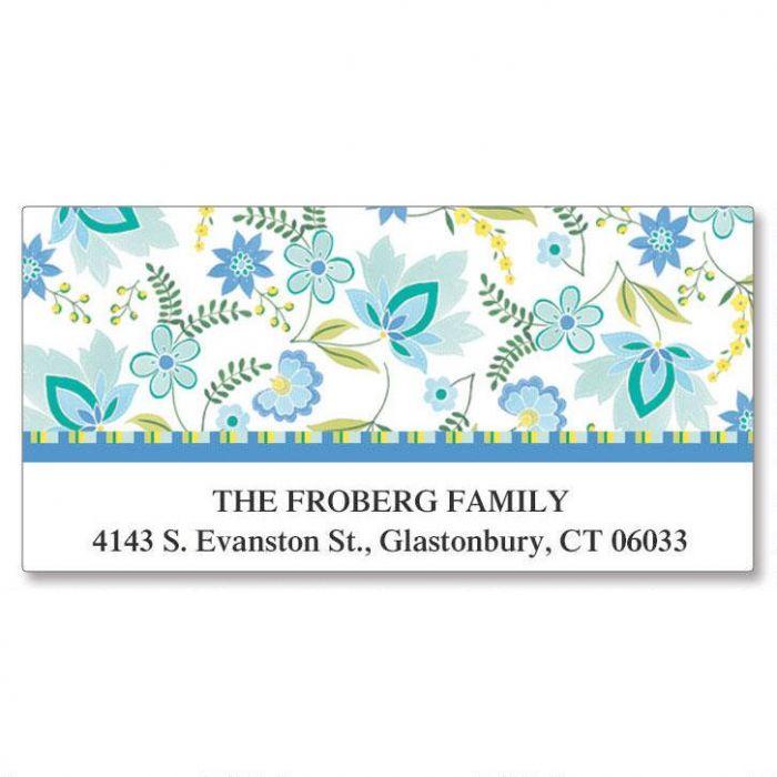 Floral Motif  Deluxe Return Address Labels