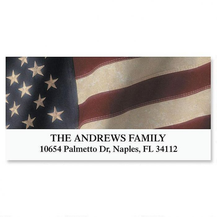 Old Glory Deluxe Return Address Labels