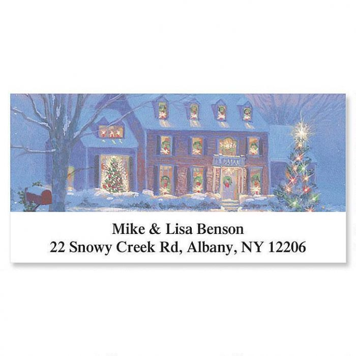 Noel Holiday Deluxe Return Address Labels