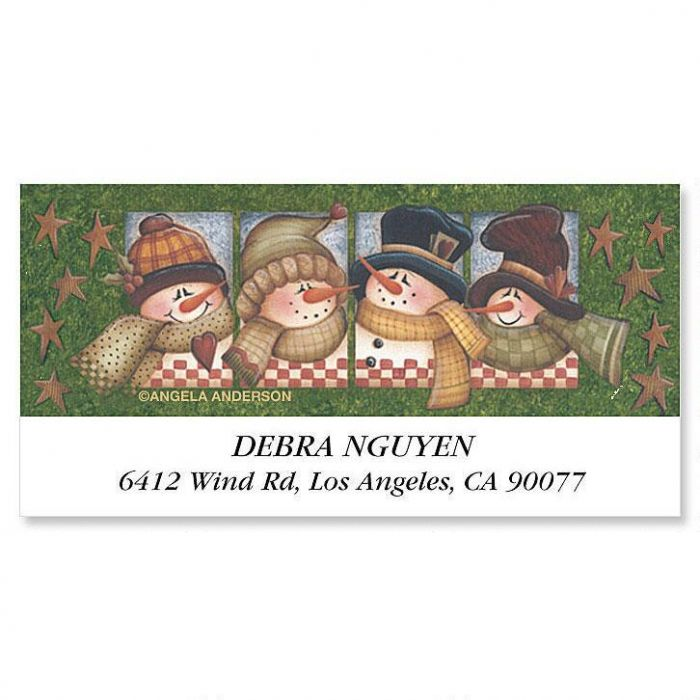 Clever Snowman   Deluxe Return Address Labels