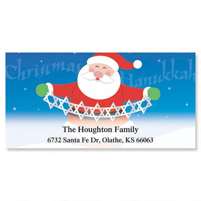 Christmas/Hanukkah Sharing... Deluxe Address Labels