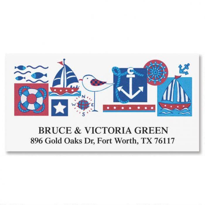 Nautical Deluxe Return Address Labels
