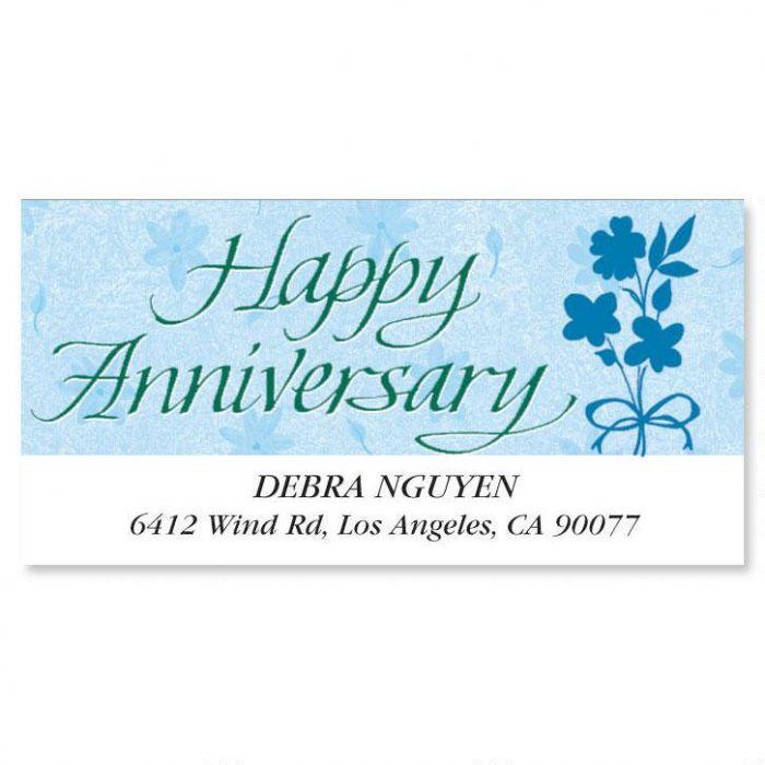 Happy Anniversary Deluxe Return Address Labels
