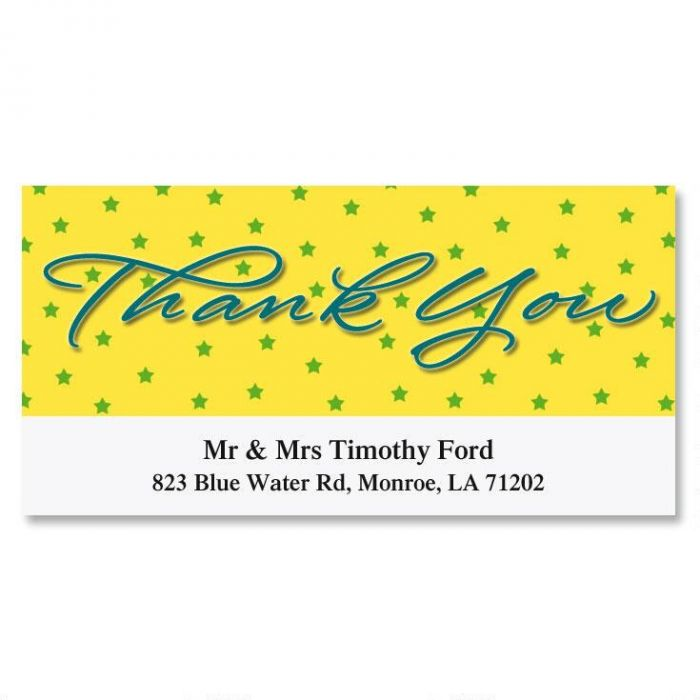 Thank You Deluxe Return Address Labels