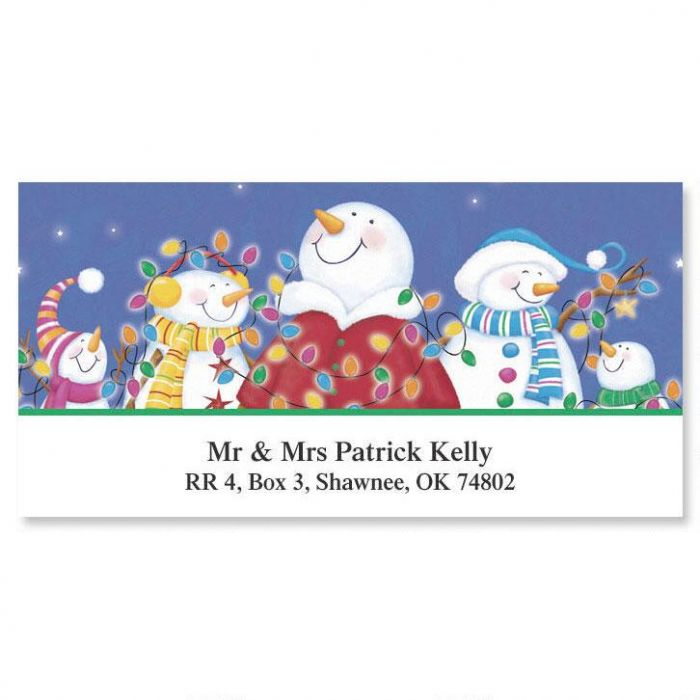 Merry & Bright  Deluxe Return Address Labels