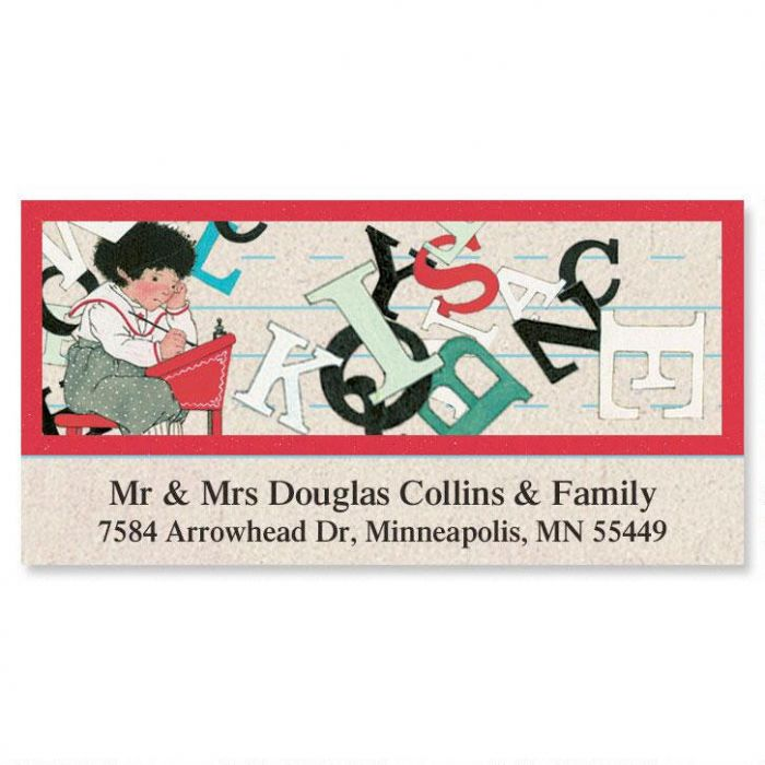 Back to School Deluxe Return Address Labels